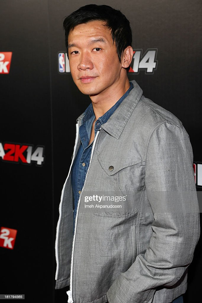 Actor Chin Han attends the premiere party for the NBA2K14 video game at Greystone Mansion on September 24, 2013 in Beverly Hills, California.