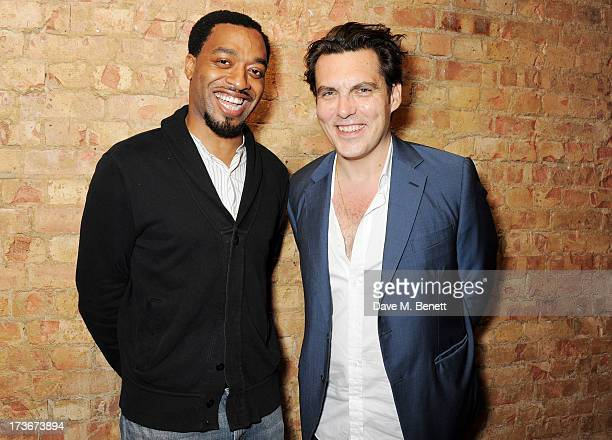 Actor Chiwetel Ejiofor and director Joe Wright attend an after party following the press night performance of 'A Season In The Congo' at The Young...