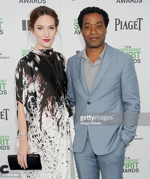 Actor Chiwetel Ejiofor and Sari Mercer arrive at the 2014 Film Independent Spirit Awards on March 1 2014 in Santa Monica California