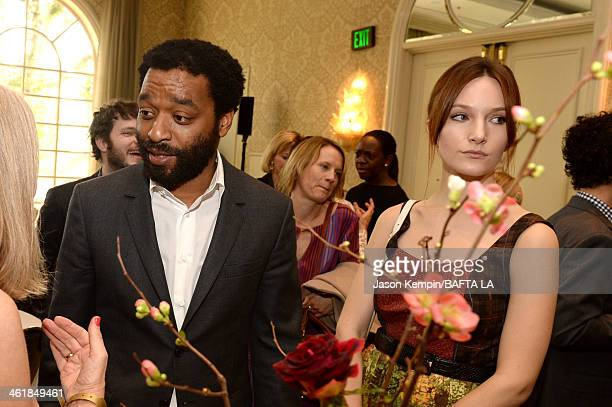 Actor Chiwetel Ejiofor and Sari Mercer attend the 2014 BAFTA Los Angeles Awards Season Tea Party presented by Jaguar Land Rover and Mulberry at the...