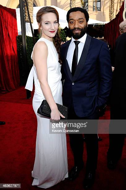Actor Chiwetel Ejiofor and Sari Mercer attend the 20th Annual Screen Actors Guild Awards at The Shrine Auditorium on January 18 2014 in Los Angeles...