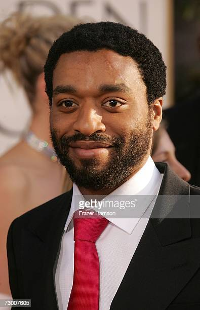 Actor Chiwetel Ejiofor arrives at the 64th Annual Golden Globe Awards at the Beverly Hilton on January 15 2007 in Beverly Hills California