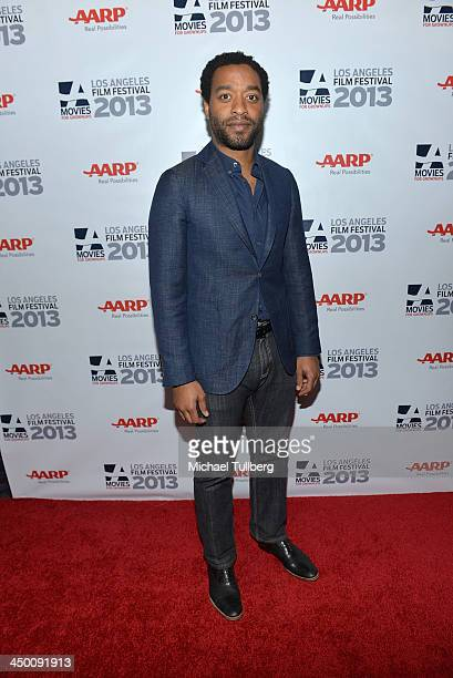 Actor Chiwetel Ejiofor attends a screening of 12 Years A Slave at AARP's Movies For Grownups Film Festival 2013 at Regal Cinemas LA Live on November...