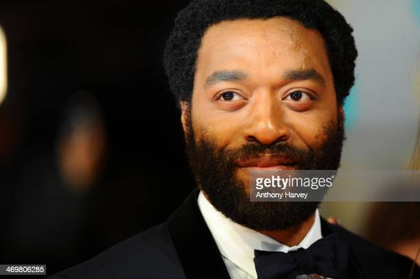 Actor Chiwetel Ejiofor attends the EE British Academy Film Awards 2014 at The Royal Opera House on February 16 2014 in London England