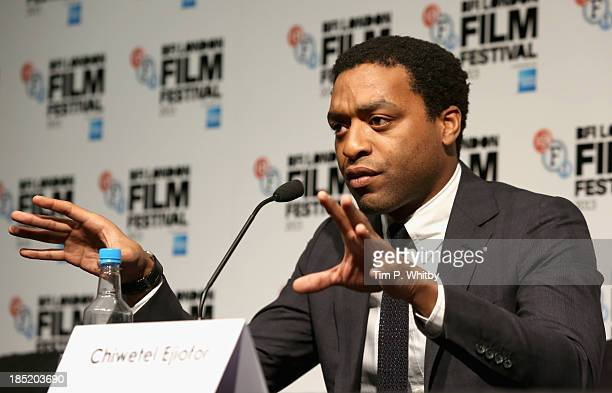 Actor Chiwetel Ejiofor attends the Twelve Years A Slave press conference during the 57th BFI London Film Festival at the Mayfair Hotel on October 18...