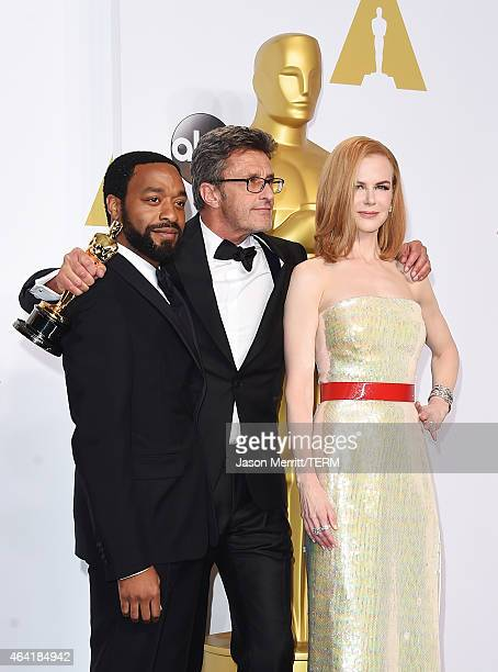 Actor Chiwetel Ejiofor Filmmaker Pawel Pawlikowski winner of the Best Foreign Language Film Award for 'Ida' and actress Nicole Kidman pose in the...