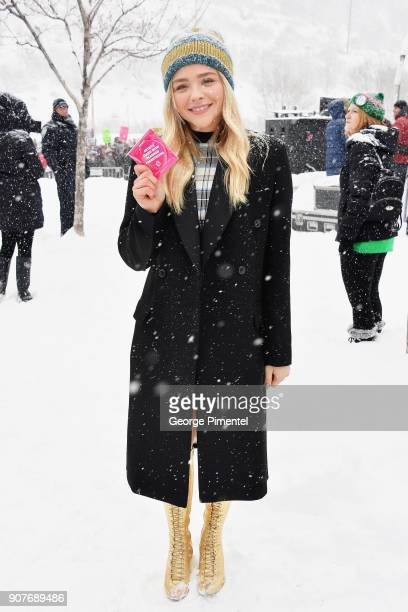 Actor Chloë Grace Moretz attends the Respect Rally in Park City on January 20th 2018 in Park City Utah