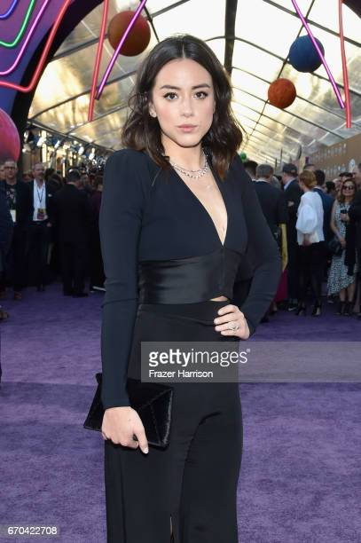 Actor Chloe Bennet at the premiere of Disney and Marvel's 'Guardians Of The Galaxy Vol 2' at Dolby Theatre on April 19 2017 in Hollywood California
