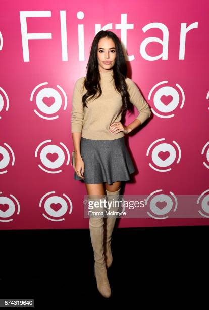 Actor Chloe Bridges at Flirtar Launch Party The World's First Augmented Reality Dating App at SkyBar at the Mondrian Los Angeles on November 14 2017...