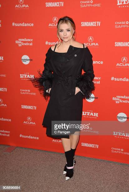 Actor Chloe Grace Moretz attends the 'The Miseducation Of Cameron Post' And 'I Like Girls' Premieres during the 2018 Sundance Film Festival at Eccles...