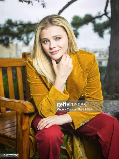 Actor Chloe Grace Moretz is photographed for Paris Match on June 19 2018 in Paris France
