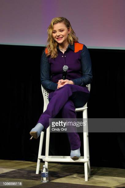 Actor Chloe Grace Moretz speaks during the 'The Miseducation of Cameron Post' Q&A during the 21st SCAD Savannah Film Festival on November 2, 2018 in...