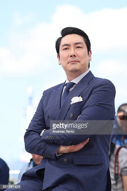 Actor Cho JinWoong attends The Handmaiden photocall during the 69th annual Cannes Film Festival at the Palais des Festivals on May 14 2016 in Cannes...