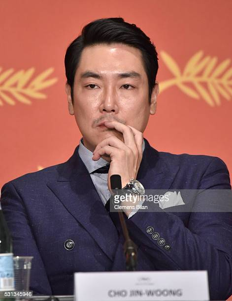 Actor Cho JinWoong attends The Handmaiden press conference during the 69th annual Cannes Film Festival at the Palais des Festivals on May 14 2016 in...