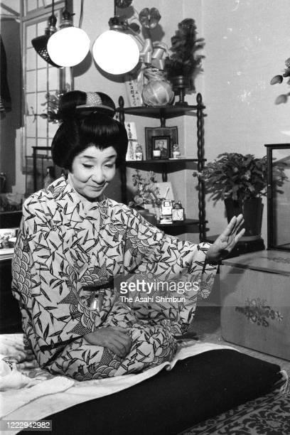 Actor Chocho Miyako speaks during the Asahi Shimbun interview on November 15 1970 in Osaka Japan