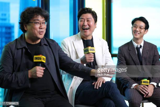 Actor Choi Woo Shik director Bong JoonHo and actor Song KangHo of 'Parasite' attend The IMDb Studio Presented By Intuit QuickBooks at Toronto 2019 at...