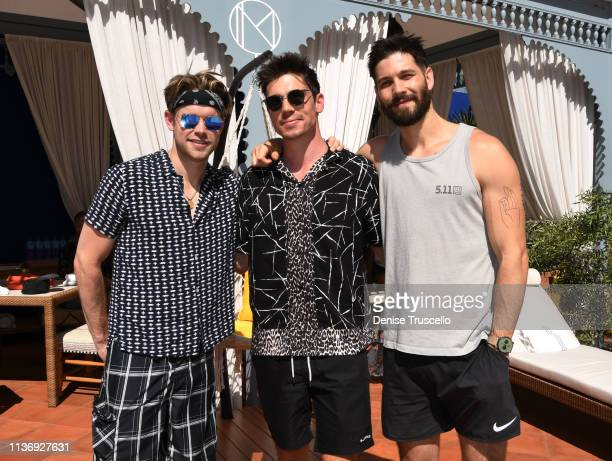 Actor Chord Overstreet actor/mode Tanner Novlan and Actor Casey Deidrick attend the debut weekend of JEMAA The NoMad Pool Party At NoMad Hotel In...