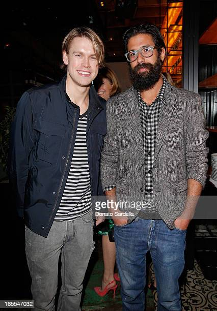 Actor Chord Overstreet and designer Greg Chait attend Vogue's Triple Threats dinner hosted by Sally Singer and Lisa Love at Goldie's on April 3 2013...