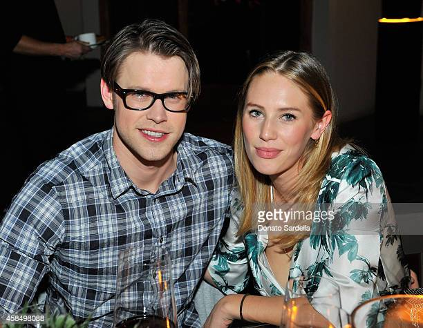 Actor Chord Overstreet and model/actress Dylan Frances Penn attend a private dinner hosted by VOGUE to celebrate TOD'S Creative Director Alessandra...