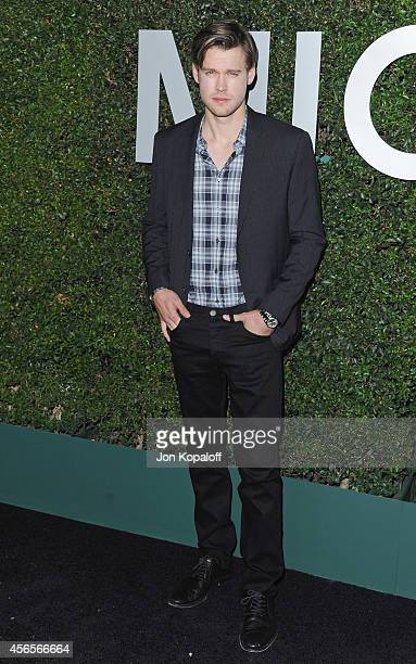 Actor Chord Overstreet arrives at Michael Kors Celebrates The Launch Of Claiborne Swanson Frank's 'Young Hollywood' Portrait Book on October 2 2014...