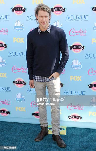 Actor Chord Overstreet arrives at the 2013 Teen Choice Awards at Gibson Amphitheatre on August 11 2013 in Universal City California