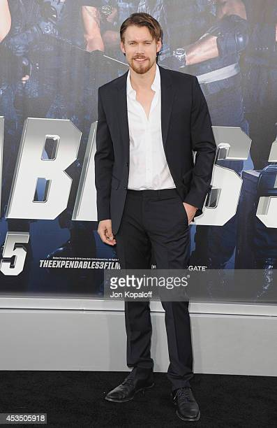 Actor Chord Overstreet arrives at the Los Angeles Premiere 'The Expendables 3' at TCL Chinese Theatre on August 11 2014 in Hollywood California