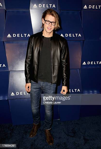 Actor Chord Overstreet attends a summer celebration hosted by Delta Air Lines on August 15 2013 in Beverly Hills featuring celebrity guests customers...