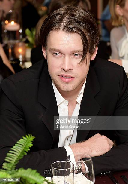 Actor Chord Overstreet attends ELLE's Annual Women in Television Celebration on January 13 2015 at Sunset Tower in West Hollywood California...