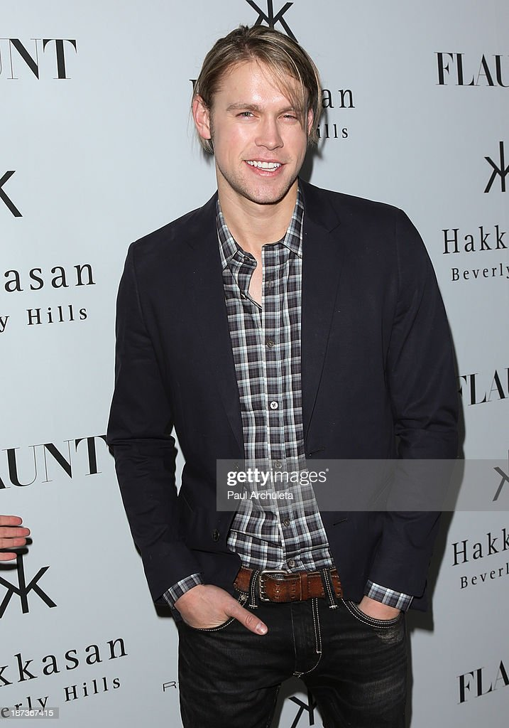 Actor Chord Overstreet attends Flaunt magazine En Garde! issue launch party on November 7, 2013 in Beverly Hills, California.
