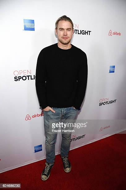 Actor Chord Overstreet attends Open Spotlight at The Oasis during Airbnb Open LA Day 3 on November 19 2016 in Los Angeles California