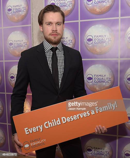 Actor Chord Overstreet attends the Family Equality Council's 2015 Los Angeles Awards dinner at The Beverly Hilton Hotel on February 28 2015 in...