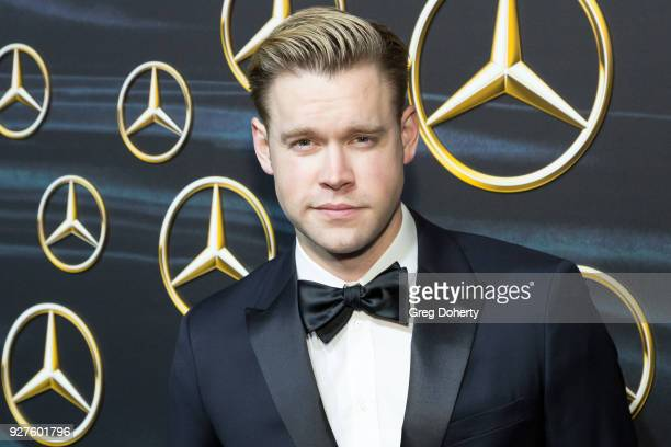Actor Chord Overstreet attends the MercedezBenz USA's Official Awards Viewing Party at Four Seasons Hotel Los Angeles at Beverly Hills on March 4...