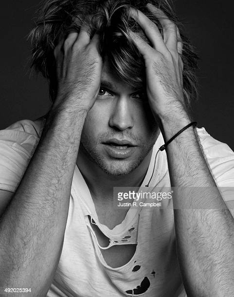 Actor Chord Overstreet is photographed for Just Jared on July 2 2013 in Los Angeles California