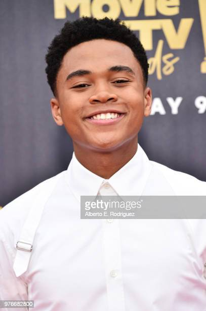 Actor Chosen Jacobs attends the 2018 MTV Movie And TV Awards at Barker Hangar on June 16 2018 in Santa Monica California
