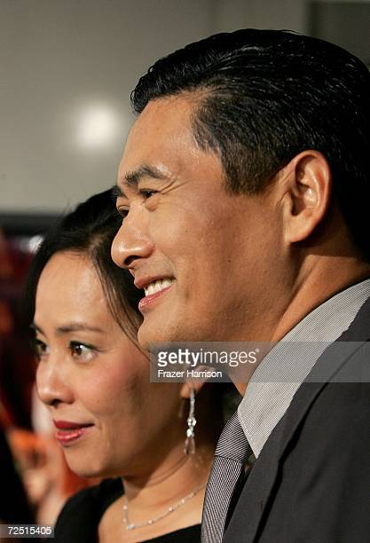 Actor Chow Yun Fat and wife Jasmine Chow arrive for the closing night gala presentation of the film Curse of the Golden Flower during AFI FEST 2006...