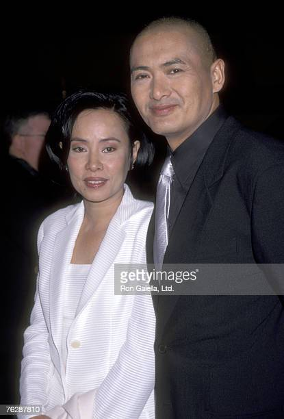 Actor Chow Yun Fat and wife Jasmine Chow attend the Anna and the King Hollywood Premiere on December 15 1999 at Mann's Chinese Theatre in Hollywood...