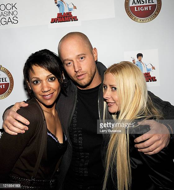 Actor Chris Ashworth and Traci Szymanski Vice President Hollywood Knights International attends the Black Dynamite Party at the Hollywood Life House...