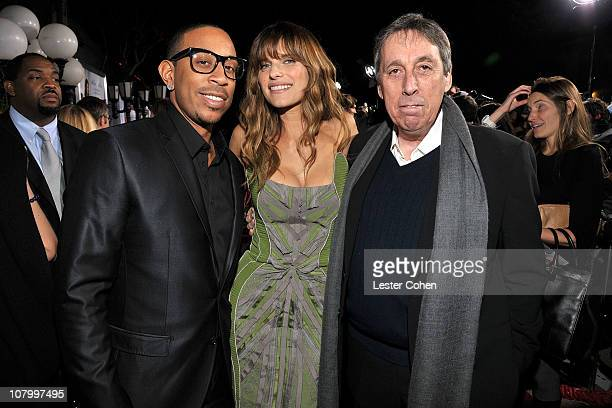 "Actor Chris Bridges, actrses Lake Bell and director/producer Ivan Reitman attend the ""No Strings Attached"" Los Angeles Premiere at Regency Village..."