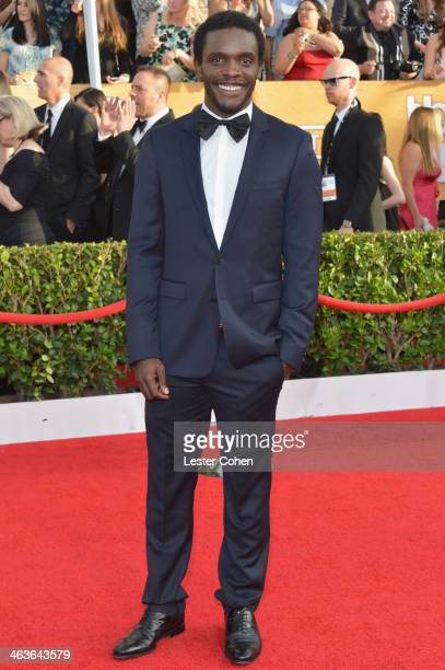 Actor Chris Chalk attends the 20th Annual Screen Actors Guild Awards at The Shrine Auditorium on January 18 2014 in Los Angeles California