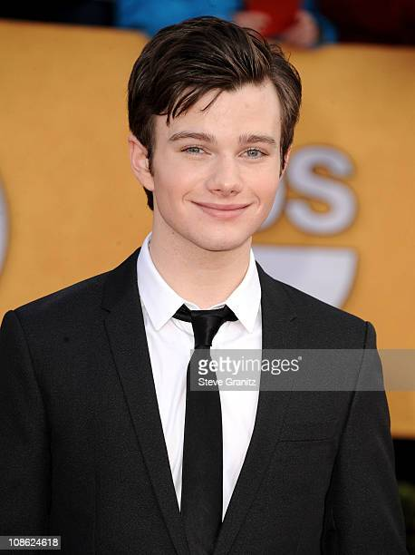 Actor Chris Colfer arrives at the 17th Annual Screen Actors Guild Awards held at The Shrine Auditorium on January 30 2011 in Los Angeles California