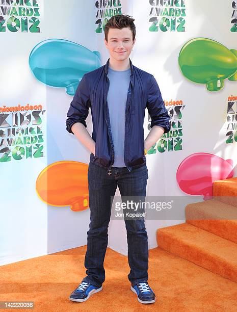 Actor Chris Colfer arrives at the 2012 Nickelodeon's Kids' Choice Awards held at the Galen Center on March 31 2012 in Los Angeles California
