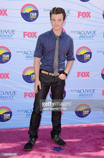 Actor Chris Colfer arrives at the 2012 Teen Choice Awards at Gibson Amphitheatre on July 22 2012 in Universal City California