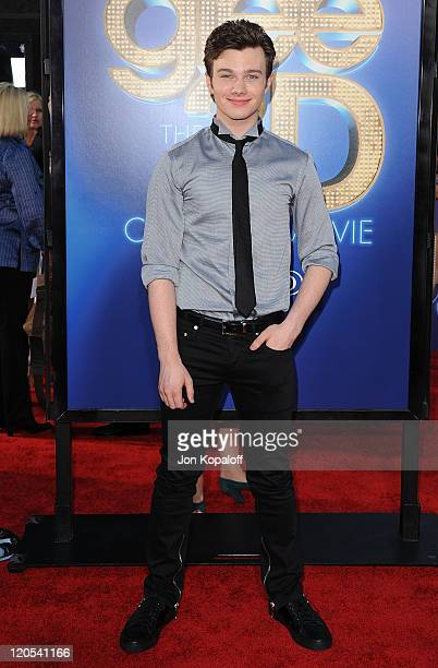Actor Chris Colfer arrives at the Los Angeles Premiere GLEE The 3D Concert Movie at Regency Village Theatre on August 6 2011 in Westwood California