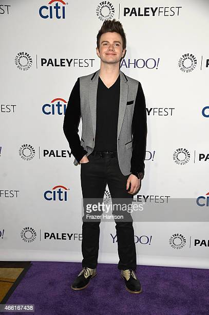 Actor Chris Colfer arrives at The Paley Center For Media's 32nd Annual PALEYFEST LA 'Glee' at Dolby Theatre on March 13 2015 in Hollywood California