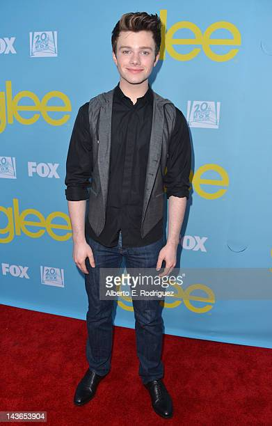 Actor Chris Colfer arrives to The Academy of Television Arts Sciences' screening of Fox's Glee at Leonard Goldenson Theatre on May 1 2012 in North...
