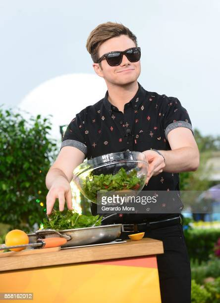 Actor Chris Colfer attends a taping of 'The Chew' during the 22nd Epcot International Food Wine Festival at Epcot Center at Walt Disney World on...