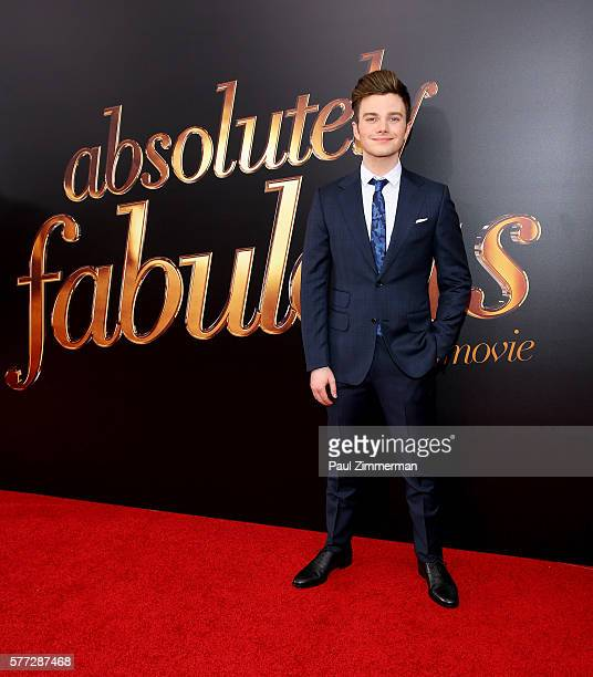 Actor Chris Colfer attends Absolutely Fabulous The Movie New York Premiere at SVA Theater on July 18 2016 in New York City
