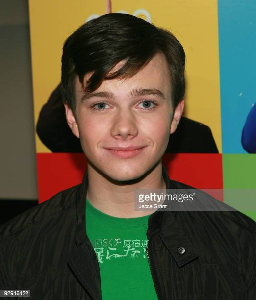 Actor Chris Colfer attends an advanced screening of the 11th episode of Glee titled Wheels at ArcLight Cinemas on November 9 2009 in Hollywood...