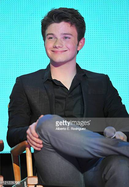 Actor Chris Colfer attends Fox's Glee SingALong event at Santa Monica High School on August 15 2011 in Santa Monica California