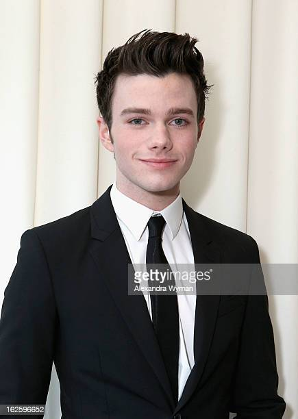 Actor Chris Colfer attends Grey Goose at 21st Annual Elton John AIDS Foundation Academy Awards Viewing Party at West Hollywood Park on February 24...